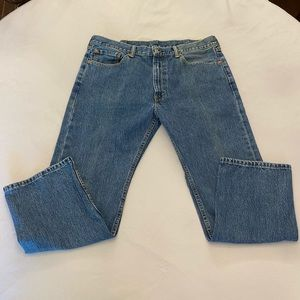 LEVI'S Men's 505 Regular Jeans, Size 38 x 29